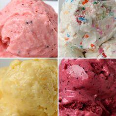 4 maneras de preparar yoghurt congelado Homemade Frozen Yogurt, Frozen Yogurt Recipes, Frozen Yoghurt, Homemade Ice Cream, Köstliche Desserts, Frozen Desserts, Frozen Treats, Dessert Recipes, Vanilla Mug Cakes