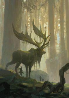 Resultado de imagen de ciervos gigantes de fantasia