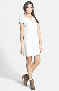 EVERLY 'Best Ever' Skater Dress (Juniors) available at #Nordstrom