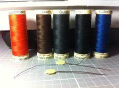 Los hilos que utilizo para coser siempre son polyester 100%