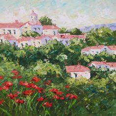 Jamie Kiro (Village of Provence - painting)  #buckheadartsfestival2014