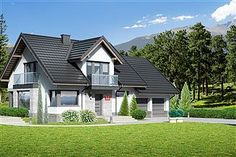 Projekt domu Dom przy Cyprysowej 15 DN2 House Layout Plans, House Layouts, 20 M2, Architectural House Plans, Home Fashion, My Dream Home, Home Interior Design, Bungalow, Exterior