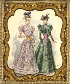Victorian fashion2 - Antique Photo Album
