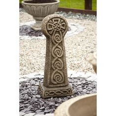 Statues & Sculptures Online Large Garden Ornaments - Gothic Celtic Cross Stone Sculpture Statue : Garden Ornaments