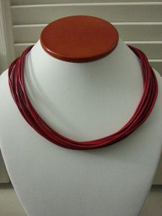 Red Leather Necklace. www.themahoganybox.com