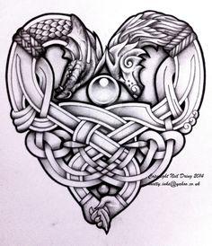 Embracing Wolf and Dragon by Tattoo-Design.deviantart.com on @DeviantArt