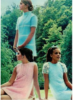 pastel angora dresses 1960's - Google Search