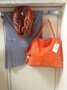 Big Buddha handbag, Kensie shift t & infinity scarf! FABulousity @ www.thatgitlsboutiquetx.com