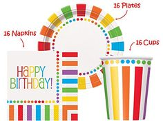 Rainbow Birthday Party set Supplies for 16 guests - 16 Pl... https://www.amazon.com/dp/B01I3Z7ZOC/ref=cm_sw_r_pi_dp_x_f85hyb9XRAGSF