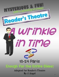 A Wrinkle in Time Reader's Theatre Middle School Teachers, School Staff, Elementary Teacher, School Fun, Character Qualities, Vocabulary Practice, A Wrinkle In Time, Readers Theater, Reading Fluency