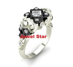 New White Diamond Ring With 925 Sterling Silver 2 Head Skull Sexy Design Price #JewelStar #ClawRing