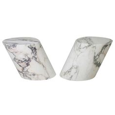 Marble side table with pink veins