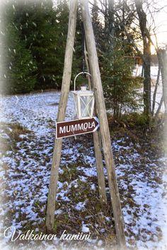 Valkoinen Kaniini: Mummulassa Ladder Decor, Christmas, Ideas, Home Decor, Xmas, Decoration Home, Room Decor, Weihnachten, Yule