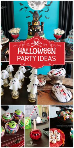 What an incredible Halloween birthday party with a stunning cake and spooky treats!  See more party ideas at CatchMyParty.com!