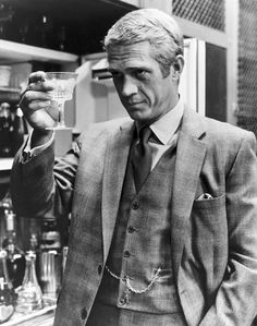 Finally, In Hi Res.Steve McQueen in Douglas Hayward, as Thomas Crown, 1968.