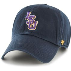 '47 Louisiana State University Clean Up Cap (Navy, Size One Size) - NCAA Licensed Product, NCAA Men's Caps at Academy Sports