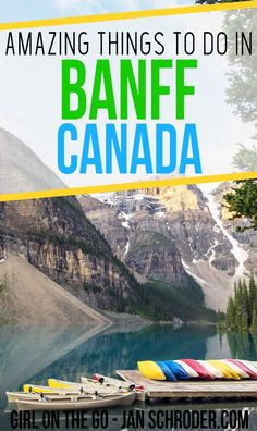 Banff is an unmissable destination in Canada. It has stunning mountain and lake scenery that is perfect in any season. Banff Canada, Canada Canada, Quebec, Travel Guides, Travel Tips, Travel Articles, Travel Advice, Montreal, Tips