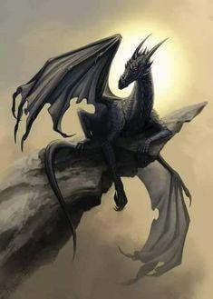 """Black Dragon"" by alaiaorax @ deviantart"