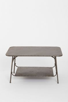 Factory Coffee Table in Zinc - Urban Outfitters