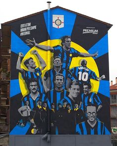 FOREVERER ANYWAY Certain moments last forever. We present to you the #InterWall! The #mural #wall was created in #Milano in collaboration with Mediaset Premium to celebrate our 110 years of #history #Inter110 #Inter #ForzaInter #FCIM #FCInternazionaleMilano #Legends #Football #Art #Urban #City #Street #Italy : @inter