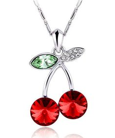 Loving this Red Cherry Bomb Necklace Made with SWAROVSKI ELEMENTS on #zulily! #zulilyfinds