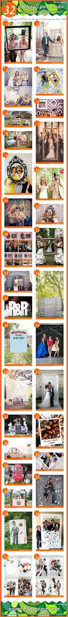 Quien dijo que las fotos con los novios tenían que ser aburridas? 32 photocall para boda, ideas originales y divertidas!!!