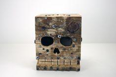 Dia De Los Muertos reclaimed wood box