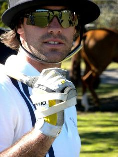 Facundo Pieres top polo player on the world at the Jockey Club near Buenos Aires
