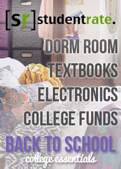 get all your stuff for college at a student discount!!