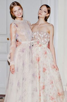 somethingvain: Valentino Haute Couture S/S 2012, Toni Garn and Nimue Smit backstage