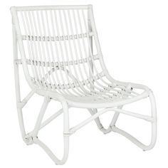 Safavieh Shenandoah White Wicker Chair and Ottoman Set Wicker Furniture, Outdoor Furniture, Wicker Dresser, Adirondack Furniture, Condo Furniture, Classroom Furniture, Wicker Mirror, Funky Furniture, White Wicker Chair