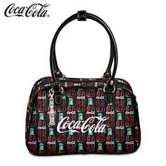 Coca-Cola Purse With Classic Vintage Green-Glass Coke Bottle Art Prada Tote, Chanel Tote, Gucci Purses, Burberry Handbags, Coach Handbags, Coca Cola Decor, Always Coca Cola, Dolce And Gabbana Handbags, Cheap Burberry