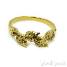 Gold Petals Ring Blooming 18k Yellow Gold Ring by YonitYonit