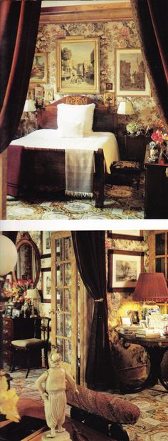 Oscar de la Renta's New York Apartment by Denning & Fourcade HG Dec 1985 Oberto Gili