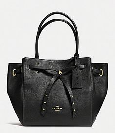 f98f997c80 COACH Turnlock Tie Small Tote in Refined Pebble Leather Handbags -  Bloomingdale s