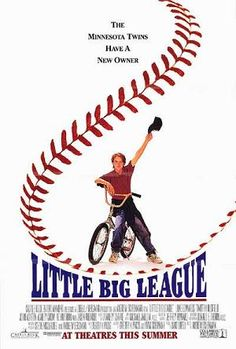 """Little Big League"" is a 1994 family film about a who suddenly becomes the owner and then manager of the Minnesota Twins baseball team. It stars Luke Edwards, Timothy Busfield and Dennis Farina. Streaming Vf, Streaming Movies, 90s Movies, Movie Tv, Childhood Movies, Comedy Movies, Baseball Movies, Twins Baseball, Baseball Stuff"