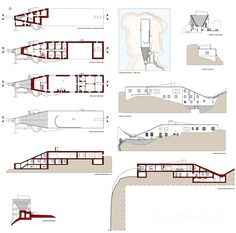 Casa Malaparte, Capri, by Adalberto Libera Arch Building, Building Plans, Architecture Drawings, Facade Architecture, Minimalist Architecture, Contemporary Architecture, Structural Expressionism, Fascist Architecture, Architecture Presentation Board