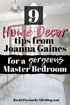 "Are you a Joanna Gaines fan? Who does become inspired by Magnolia Homes and fixer upper remodels? I know I am not the only one. These decorating on a budget ideas will help you create a cozy and simple bedroom the easy way. You'll never want to leave your master bedroom once you have followed these decor tips and tricks that only the pro's use in each bedroom renovation. So keep reading to get inspired to design your very own quote ""fixer upper styled bedroom"" #bedroom #quote #masterbedroom Joanna Gaines Design, Joanna Gaines Style, Diy Projects To Sell, Diy Home Decor Projects, Diy Home Decor On A Budget, Decorating On A Budget, Fixer Upper Bedrooms, Victorian Living Room, Guest Bedroom Decor"
