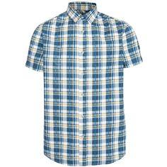Blue Check Short Sleeve Shirt ($23) via Polyvore