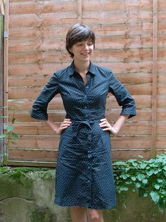Cute shirt dress pattern