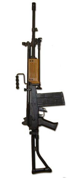 IMI Galil ARM - 7.62x51mm Actually used Galil AR with 35 round magazine, but due to the lack of pictures for this weapon I had to choose the ARM version.