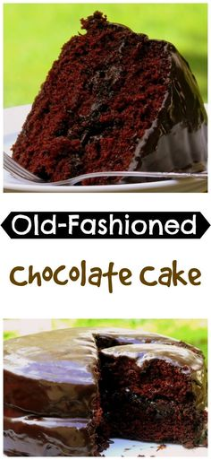 Old-Fashioned Chocolate Cake, tastes just like Grandma's, from NoblePig.com.