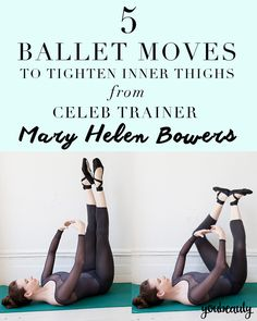 Inner Thigh Workout: Ballet-Inspired Moves Theres a good reasonballet workoutshave become so popular recently: They work. The post Inner Thigh Workout: Ballet-Inspired Moves appeared first on Womans Dreams. Fitness Workouts, Yoga Fitness, Fitness Tips, Aerobic Fitness, Dance Fitness, Fitness Wear, Ballet Barre Workout, Ballet Moves, Ballet Stretches