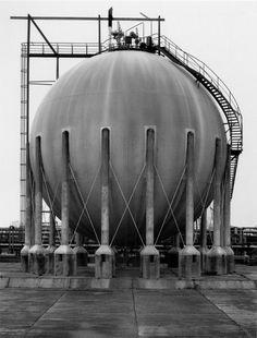 Bernd & Hilla Becher, Large, steel storage tank, c. 1960
