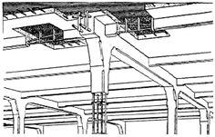 Francois Hennebique. Trabeated system for reinforced concrete. 1892