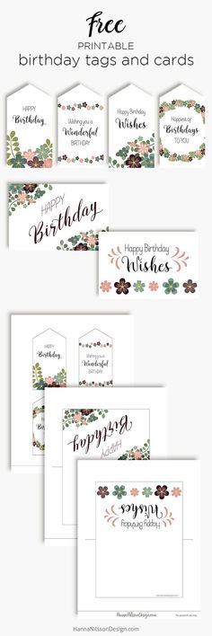 Fancy Birthday tags and cards – Hanna Nilsson Design Birthday Tags, Happy Birthday Wishes, Free Birthday, Free Printable Tags, Free Printable Calendar, Simple First Birthday, Free Teen, Freebies, Bullet Journal