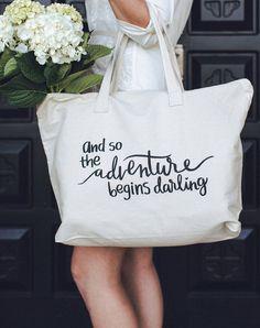 Bridal totes that don't scream bride! Love. Adventure tote bag - Adornlee