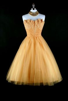 1950's Gold Party Dress
