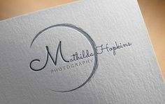 Simple Photography Logo Template by My Resume on @creativemarket