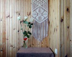 Arte de pared de Macrame macrame colgante de por MacrameModernDecor